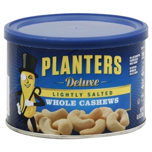 Planters Deluxe Light Salt Whole Cashews Snack Nuts - 8.5 Oz.