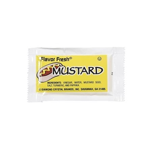 Flavor Fresh Mustard Yellow Pouch 500 Count - 4.5 Gr.