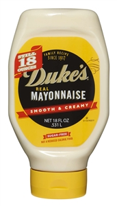 Dukes Mayonnaise Squeeze Bottle - 18 Oz.