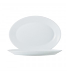 Restaurant White Oval Platter Master - 12.5 in.