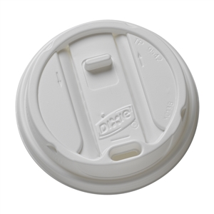 White Dixie 12 and 16 oz. Smart Top Reclosable Cup Lid