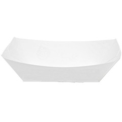 Kant Leek Polycoated White Food Tray - 1 lb.