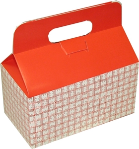 Dixie Small Auto Bottom Handled Take Out Carton Red Plaid