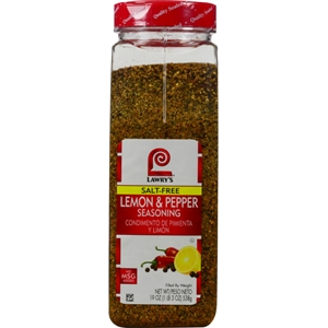 Seasoning Lawrys Lemon and Pepper No Msg - 19 Oz.