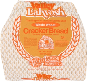 Valley Lahvosh Crackerbread Round Cracked Wheat - 26 Oz.