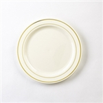 Glimmerware Dinner Plate Bone And Gold - 10 in.