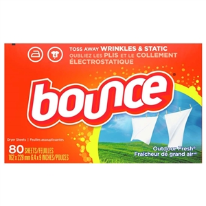 Bounce Fresh Dryer Sheets Outdoor