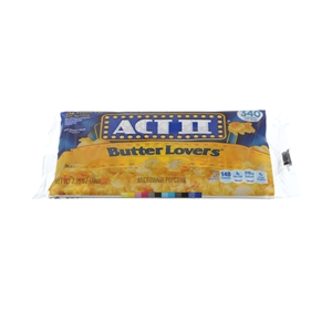 Act Ii Microwave Popcorn Tray Butter Lovers - 2.75 oz.