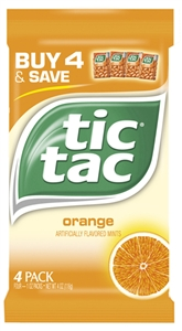Tic Tac T60 Orange Candy - 4 oz.