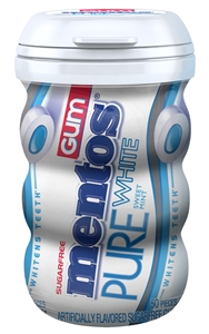 Mentos Gum Pure White Curvy Bottle 50 Piece