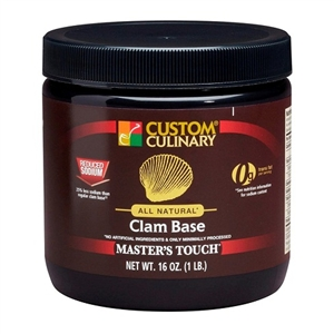 All Natural Reduced Sodium Clam Base No Added Msg - 1 Pound