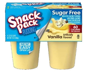 Snack Pack Sugar Free Vanilla - 3.25 Oz.