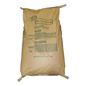 Quality Hearth Plain Bread Crumbs - 50 Lb.