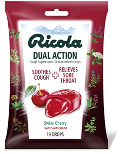 Dual Action Cough Drop Cherry Bags