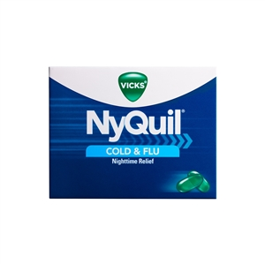 Vicks Nyquil Cold and Flu Relief Liquicaps