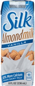 Silk Aseptic Pure Almond Vanilla Box - 8 Oz.