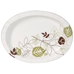 Ultra Heavy Weight Oval Paper Platters - 8.5 in. x 11 in.
