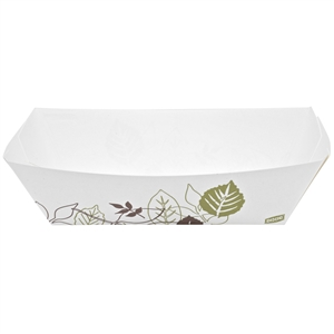 Kant Leek Poly Coated Paper Food Trays - 5 Lb.