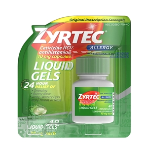 Zyrtec Liquid Gel Allergy Relief