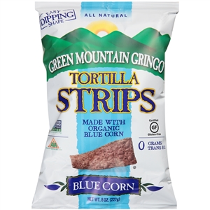 Green Mountain Gringo Organic Blue Tortilla Strips - 8 Oz.
