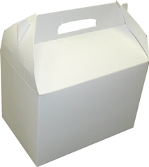 White 10 Pound Plain Carryout Carton - 6 in. x 9 in. x 6.5 in.