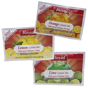 Royal Gelatin Sugar Free Assorted Citrus - 2.7 Oz.