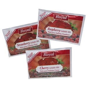 Royal Sugar Free Gelatin Strawberry Cherry Raspberry
