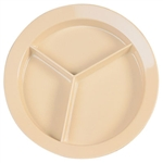Tan Supermel 3 Compartment Plate - 9 in.