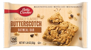 Oatmeal Bar Butterscotch Betty Crocker Individually Wrapped - 1.24 Oz.