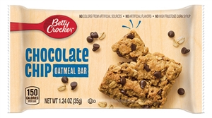 Oatmeal Bar Chocolate Chip Betty Crocker Individually Wrapped - 1.24 Oz.