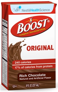 Boost Beverage Chocolate Tetra Brick Pack - 8 fl.oz.