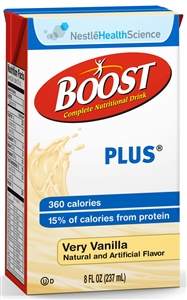 Boost Plus Beverage Vanilla Tetra Brick Pack - 8 fl.oz.