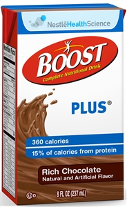 Boost Plus Beverage Chocolate Tetra Brick Pack - 8 fl.oz.