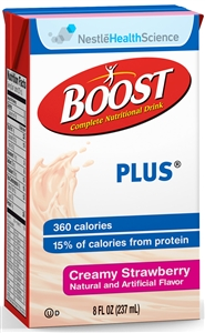 Boost Plus Beverage Strawberry Tetra Brick Pack - 8 fl.oz.