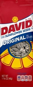 David Sunflower Seeds In Shell Original Tubes Unpriced - 1.62 Oz.
