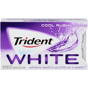 Trident White Cool Mint Rush Gum Singles