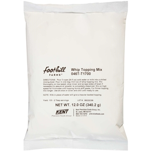 Tuf Whip Topping Mix Non Fat - 12 Oz.