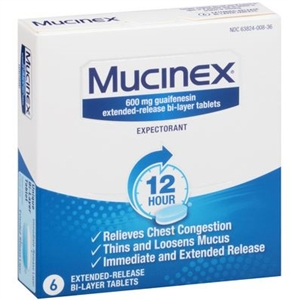Mucinex Extended Release Tablets Carton