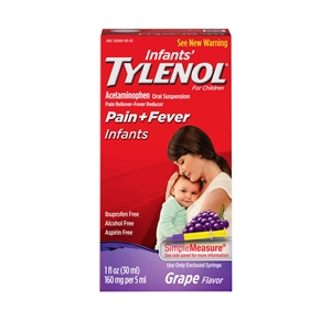 Tylenol Infant Drops Grape - 1 Fl. Oz.