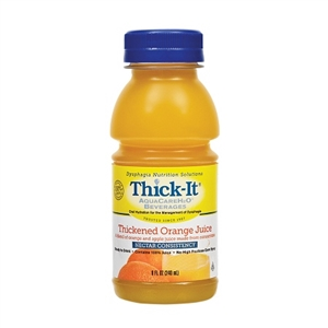 Thick-It AquaCareH2O Beverages Thickened Orange Juice Nectar Consistency - 8 Fl.oz.