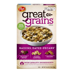Great Grains Raisin, Date, Pecan Cereal - 16 oz.