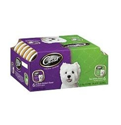 Cesar Variety Pack Dog Food Beef and Poultry - 2.65 Lb.