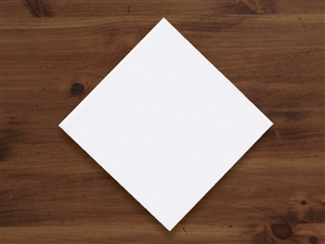 0.25 Fold Beverage White 1 Ply Napkin - 10 in. x 10 in.