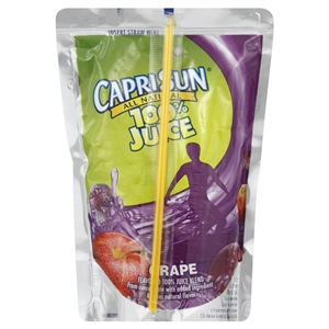 Capri Sun Beverage 100 Percent Grape Juice