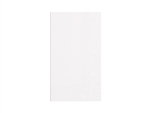 White 2 Ply One Eighth Fold Paper Dinner Napkin - 15 in. x 17 in.