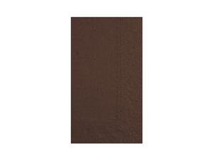 Chocolate Brown Dinner Napkin Paper 2 Ply - 15 in. x 17 in.