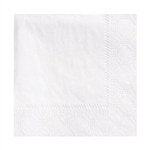 2 Ply Beverage Napkin White - 9.5 in. x 9.5 in.