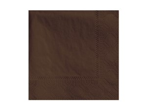 Beverage Chocolate Napkin 2 Ply - 9.5 in. x 9.5 in.