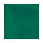 Beverage 2 Ply Hunter Green Napkin - 9.5 in. x 9.5 in.