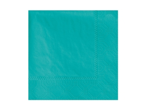 Beverage Napkin Teal 2 Ply Fold Paper - 9.5 in. x 9.5 in.